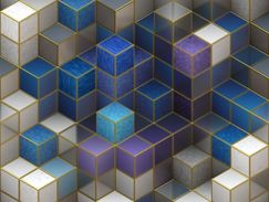 Colored and white cubes