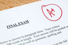 Picture of Final Exam with A+ Grade